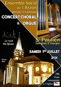 ENVOL'ART Concert St Paulien 01-07-2017 - Affiche V2
