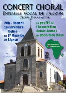 ENVOL'ART Concert St maurice de Lignon - Affiche V2