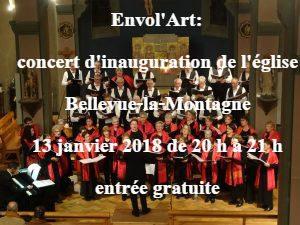ENVOL'ART Concert Bellevue la Montagne 13 janvier 2018 - Image de l'affiche (1)